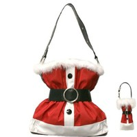 Christmas Santa Claus Suit Purse Handbag