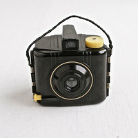 Vintage Kodak Baby Brownie Special Camera - 1940s Small Black Bakelite Camera / Tiny Photography