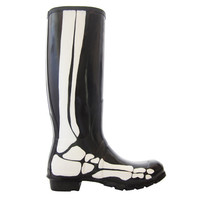 Be&D: Skeleton Rainboots Black