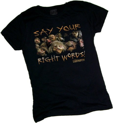 Say Your Right Words! -- Labyrinth Crop Sleeve Fitted Juniors T-Shirt