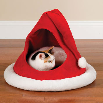 The Festive Feline's Holiday House - Hammacher Schlemmer
