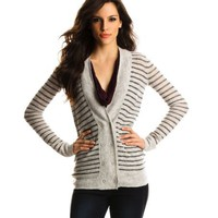 Armani Exchange Striped Cardigan