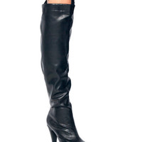 Thigh-High-Platform-Boots BLACK - GoJane.com