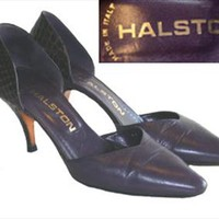 Halston 70s Designer Shoes