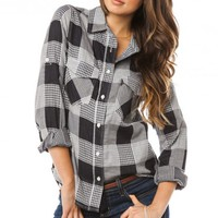 ALISON PLAID BLOUSE