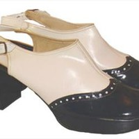 Mod Sling Back Platform Shoes