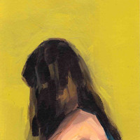 Portrait in Yellow . 12 x 16 giclee art print