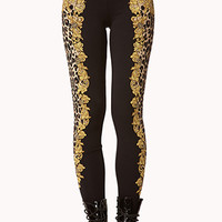 Framed Leopard Print Leggings