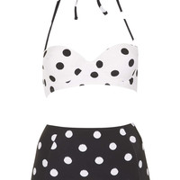 Black And White Spot Bikini - Swimwear - New In This Week  - New In
