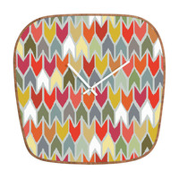 DENY Designs Home Accessories | Sharon Turner Beach House Ikat Chevron Modern Clock
