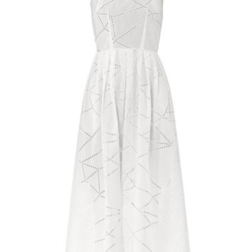 Broderie anglaise cotton dress | Christopher Kane | MATCHESFAS...
