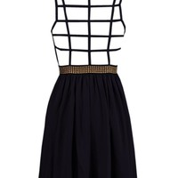 Strap Back Dress - Kely Clothing