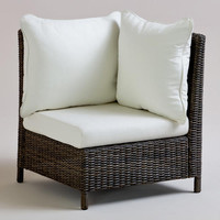 All-Weather Wicker Solano Sectional Armchair | World Market