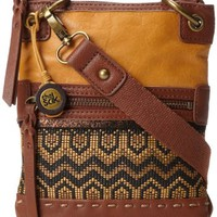 The SAK Pax Mini Cross Body,Ochre Tribal,One Size