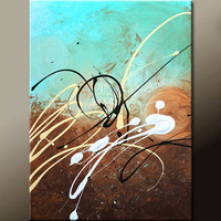 Abstract Art Painting on Canvas 18x24 Original Contemporary Modern Art Paintings by Destiny Womack - dWo - Scattered