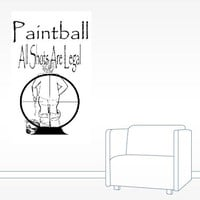 Funny Paintball Wall Decal