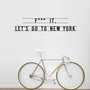 let&#x27;s go to new york sticker