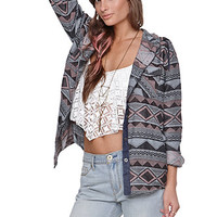 LA Hearts Hooded Jacquard Shirt at PacSun.com