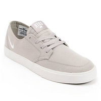 Nike SB Braata LR Grey & White Canvas Skate Shoe