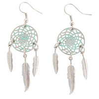 Turquoise Dreamcatcher Earrings | Hot Topic