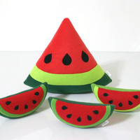 Watermelon Pillow - Fruit Pillow - Kids Pillow