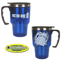 EE Exclusive Doctor Who TARDIS 14 oz. Travel Mug - Bif Bang Pow! - Doctor Who - Mugs at Entertainment Earth