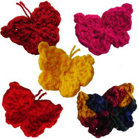 5 Photos of Handmade Crochet Butterflies, 300dpi, PNG, EPS and JPG format, Instant Download