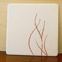 Supermarket - letterpress coasters, set of 8 from 12fifteen