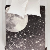 Shannon Clark For DENY Love Under The Stars Duvet Cover- Black