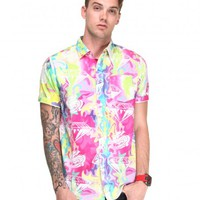 DJPremium.com -  S/S Trippy Diamond Buttondown