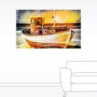 Boat Painting Wall Decal