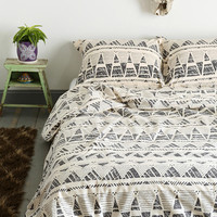 Magical Thinking Stamped Geo-Point Duvet Cover - Urban Outfitters
