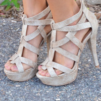 Take A Walk On The Wild Side Heels: Ivory