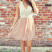 See Myself With You Dress: Ivory/Blush