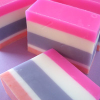 Best Friends Soap - Handmade Glycerin Soap  - Natural Soap  - Bath and Body _Pink and Purple
