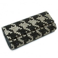 HOUNDSTOOTH WILLIAMS CLUTCH   :Roberta Freymann