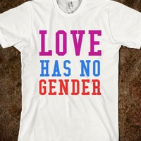 Supermarket: LOVE HAS NO GENDER from Glamfoxx Shirts
