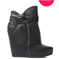 Heart Soul Rhonda Wedge Boot in Black