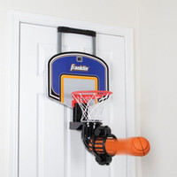 The Automatic Return Indoor Basketball Net - Hammacher Schlemmer