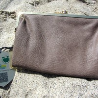 "Light Brown ""Nutmeg"" Certified Vegan Wallet Clutch by Urban Expressions"