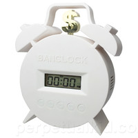 BANCLOCK TWIN BELL - PAY TO SNOOZE ALARM CLOCK