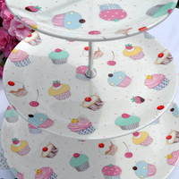New Bone China Chintz Cupcake 3 Tier Cake Stand