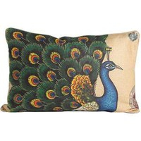 Royal Peacock Linen Pillow | Tracy Porter
