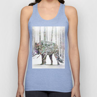 Winter Wonder Dog Unisex Tank Top by Ben Geiger