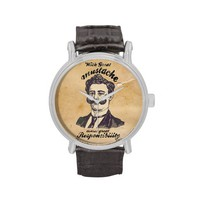 With great mustache comes great responsibility. wristwatches