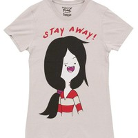 Adventure Time Marceline Stay Away Juniors Silver T-Shirt
