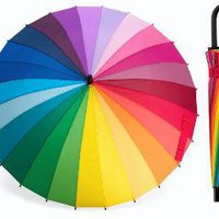 Color Wheel Stick Umbrella | Incredible Things