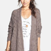 Cotton Emporium Oversized Pointelle Cardigan (Juniors) | Nordstrom