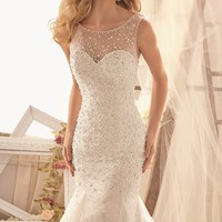 Mermaid Net Gown by Bridal by Mori Lee