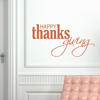 Happy Thanksgiving III Wall Quote Decal